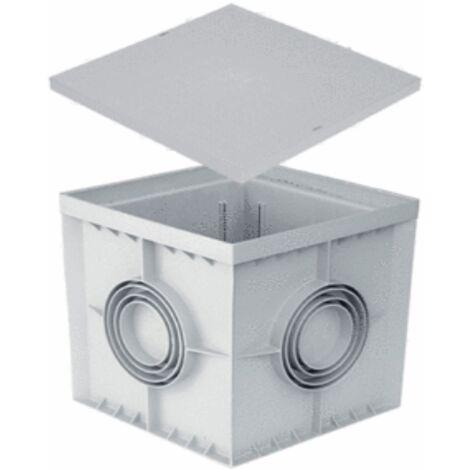 Pozzetto 30x30 300x300 con coperchio nor pedonabile colore grigio in pp 30 cm
