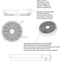 AKF01 Aktivkohlefilter f/ür Viesta Dunstabzugshaube Ersatzfilter f/ür den Umluftbetrieb von Dunstabzugshauben