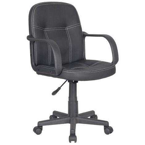 Sedia/Poltrona da ufficio/scrivania con braccioli NERO ...
