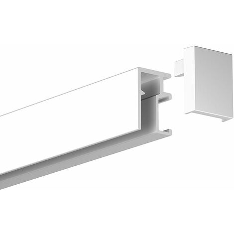 Rail Newly R10 - 200 cm (max 20kg/m) - Blanc mat (peut être peint) - Blanc mat (peut être peint)