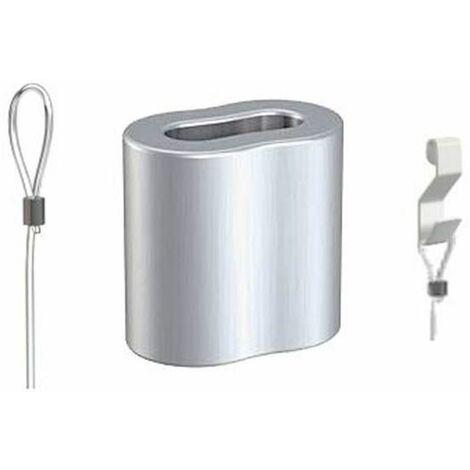 Serre câble - Manchon pour câble perlon et acier 2 mm - 0.6