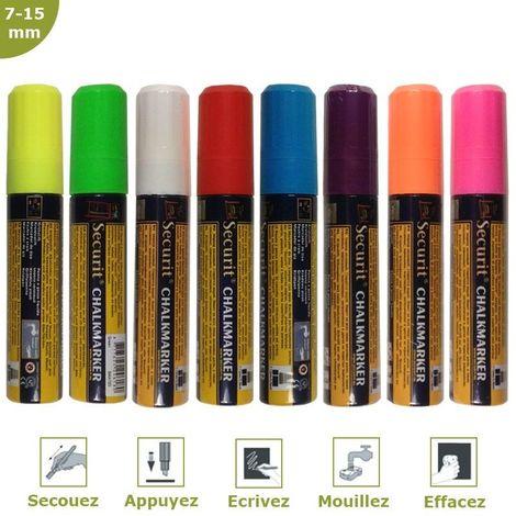 Feutre-craie couleur 7-15 mm par 8 - 8 couleurs - 2,7 - 8 couleurs