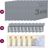 Boite 10 attaches adhésives Dibond 70 x 70 mm : max 3 kg