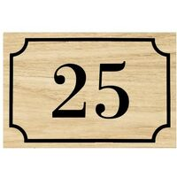 Numéro de maison / rue gravé et personnalisé couleur effet bois clair chiffres noirs - Signalétique extérieure - Plastique - 8 - Plastique