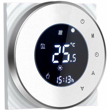 Thermostat connecté compatible Alexa et Google Home couleur blanc - BECA