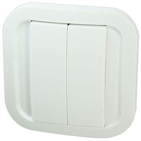 Double interrupteur enOcean sans fil ni pile - Blanc Cozy - NodOn