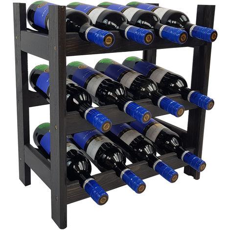 Weinregal Bacchus Kompakt – Flaschenregal 43 x 25 x 47 cm – Weinständer für bis zu 12 Flaschen:Anthrazit