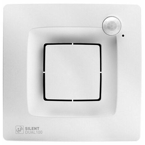 Extractor de baño S&P Silent Dual 100 con sensor de movimiento y humedad