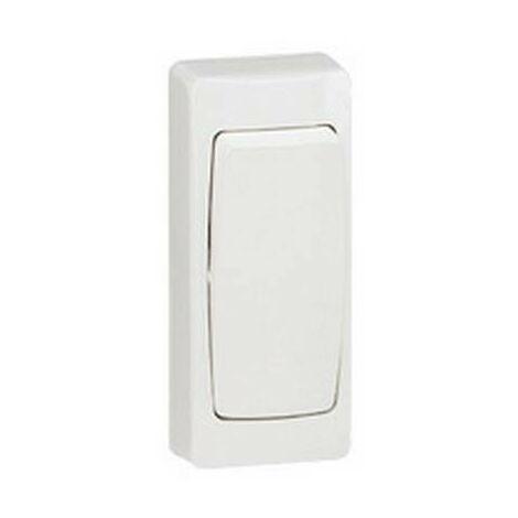 Interruptor conmutador de superficie monobloc blanco Legrand Oteo 086084