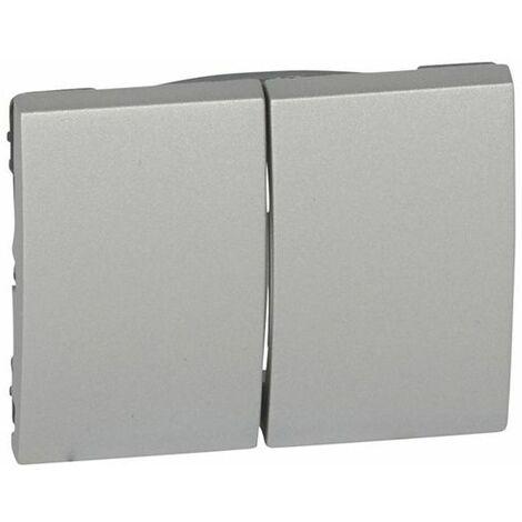 Tecla doble interruptor - conmutador aluminio Legrand Galea Life 7713112