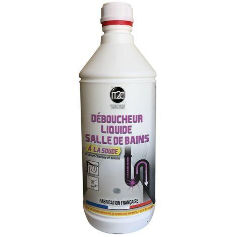 IT2C Déboucheur Soude Liquide Salle de Bains 1L