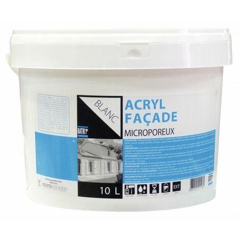 PEINT. FACADE ACRYL 10L BLC