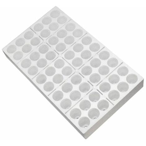 Seminiera 60 fori - Tondi - Sezionabile - 6 x 10 - polistirolo bianco