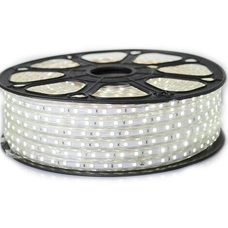 Ruban LED Professionnel 5050 60 LED/m de 25 ou 50 mètres Blanc Froid étanche (IP68) | Longueur: 25 mètres