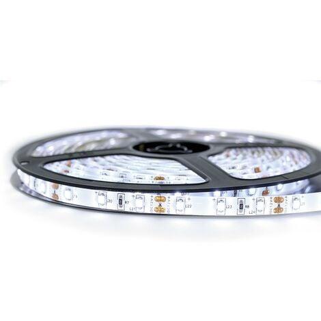 Kit Ruban Professionnel 3528 - 60 leds/m - 1m, 2.5m, 5 ou 10 mètres au choix - Blanc froid anti-éclaboussure (IP65) | Transformateur: Alimentation Non-Inclus - Longueur: 1 mètre
