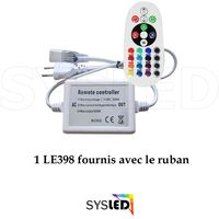 Kit Ruban LED Professionnel 5050 60 LED/m de 25 ou 50 mètres RGB étanche (IP68) avec contrôleur 220V | Longueur: 25 mètres