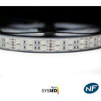 Kit ruban Professionnel 5050 - 120 LED/m - 5 mètres RGB étanche (IP67) avec contrôleur et transformateur | Longueur: 5 mètres - Controleur- telecommande: Non-inclus - Transformateur: Alimentation Non-Inclus