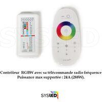 Kit Ruban Professionnel 5050 - 60 leds/m - 5 m RGBW (blanc froid) anti-éclaboussure (IP65) avec contrôleur et transformateur   Longueur: 5 mètres - Controleur- telecommande: Non-inclus - Transformateur: Alimentation Non-Inclus