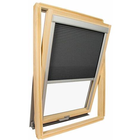 Store isolant pour fenêtre de toit Velux ® Gris anthracite - Code dimension MK04 - Gris anthracite