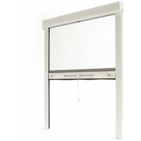 Store moustiquaire enroulable fenêtre LUXE ALU Blanc - L800 x H1000mm