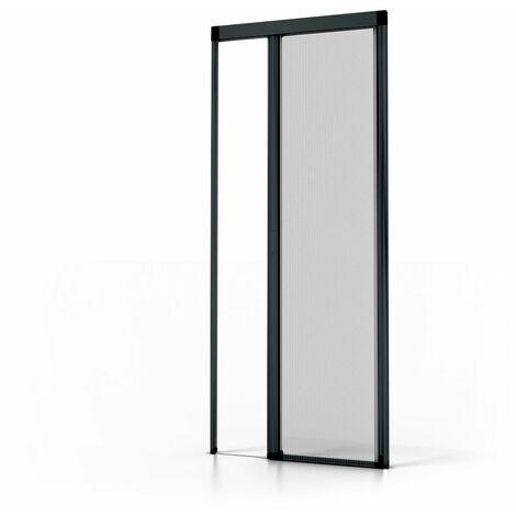 Moustiquaire porte Luxe Gris RAL7016 - L1400 x H2300mm  - Gris Anthracite
