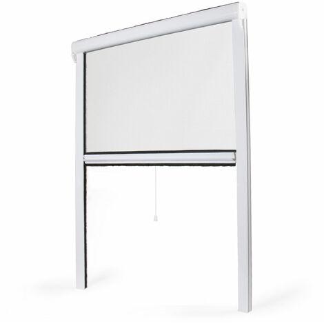 Moustiquaire enroulable fenêtre PVC -  L800mm x H1300mm - Blanc