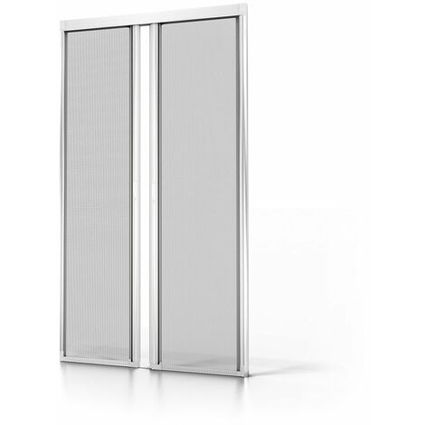 Moustiquaire double porte ALU Blanc L2400 x H2300mm - Blanc