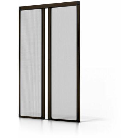 Moustiquaire double porte ALU Marron  L2400 x H2300mm - Marron