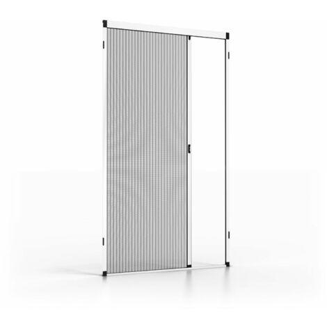 Moustiquaire plissée automatique blanche L1200 x H2300mm - Blanc