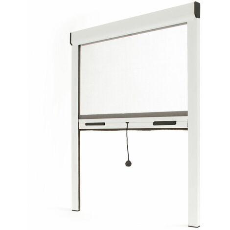 Store moustiquaire alu blanc - L800 x H1300mm