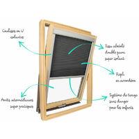 Store isolant pour fenêtre de toit Velux ® Blanc - Code dimension CK02 - Blanc