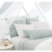 Moustiquaire ciel de lit tulle blanc - H2200mm / Périmètre 8500mm - Blanc