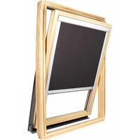 Store occultant Noir pour fenêtre Roto ® - Vitrage H63.5 x 40cm - Noir