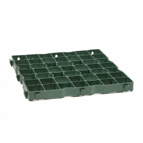 Dalle stabilisatrice de gravier polyéthylène Ep 4cm 50x50cm IG040 Nidaplast