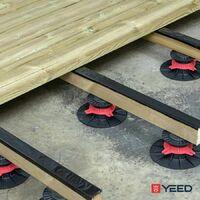 Plot terrasse bois ou composite 60/90 mm Rinno plots A l'unite