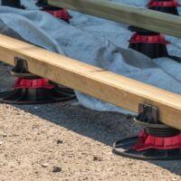 Plot terrasse bois ou composite 150/260 mm Rinno plots A l'unite