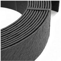 Rouleau de bordure flexible - 18 m x 14 cm x 7 mm avec 10 piquets