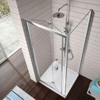 Porte de douche pliante S300 90 cm Sans paroi latérale