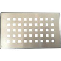 Grille inox PIATTO pour receveurs de douche en SoliCast© motif quadrillage