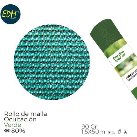 ROLLO MALLA VERDE 80% 90G 1,5X50MTS