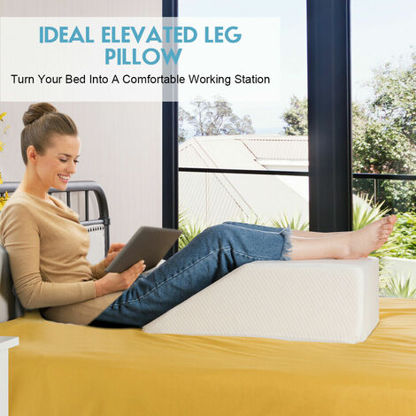 2 IN 1 Elevating Memory Foam Leg Rest Pillow Sponge Orthopaedic Bed Pillow