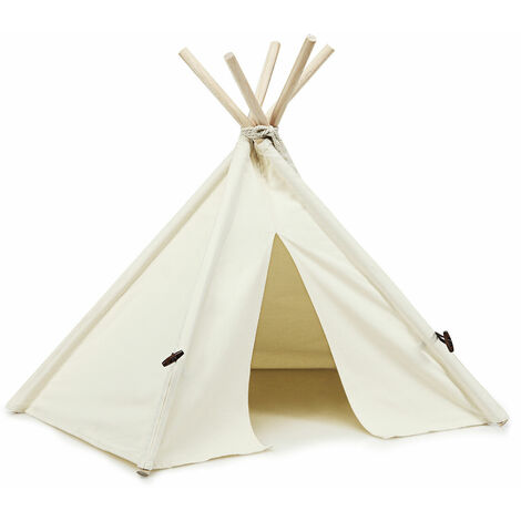 Costway Folding Pet Teepee Bed Kennel Dog Cat Nest House Fun Mini Hideaway Washable