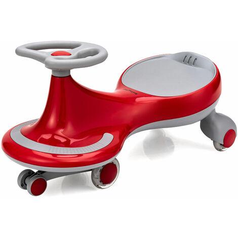 COSTWAY KIds Wiggle Car Ride-on Swivel Scooter Toddler Twist Go Car Flashing Wheels