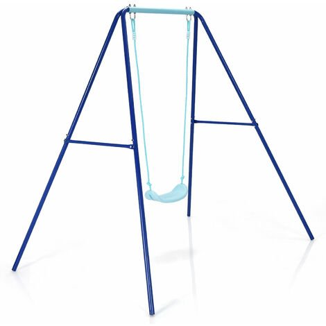 Outdoor Garden Single Kids Swing Set Children Safety Chair Set Play Fun Toy Game