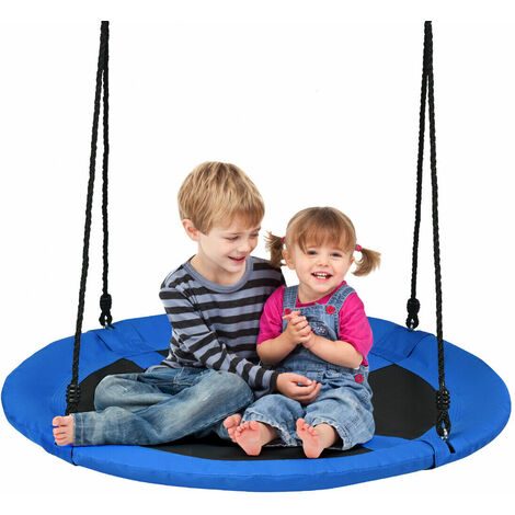100cm Flying Saucer Tree Swing Indoor Outdoor Children Play Set Adjustable Rope