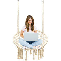 Hammock Swing Chair Hanging Rope Seat Net Chair Garden Macrame Swing 150KG New