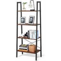 4-Tier Bookshelf Bookcase Storage Home Display Stand Shelf Unit Free Standing