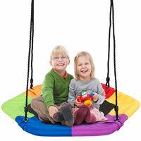 Kids Padded Crows Nest Swing Seat Set Hanging Tree Swing Seat Heights Adjustable