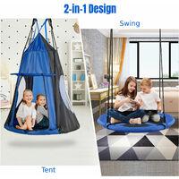 Kids Hanging Chair Swing Tent Set Hammock Nest Pod Hanging Swing Seat 150KG