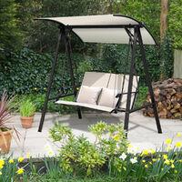 Garden Hammock Swing Chair Seat Outdoor 2 Person Loveseat Adjustable Canopy